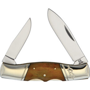 Rough Ryder Double Lock Amber Bone