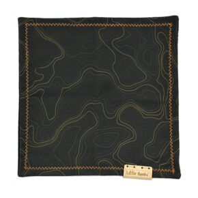 Little Hanks Black Topo with Gold Lines (Cotton Satin)